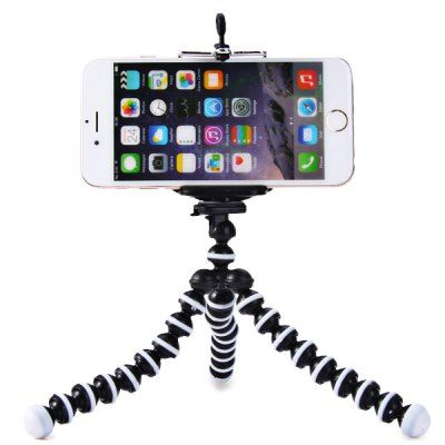 GearBest,Mini Octopus Style Mobile Phone Stand Flexible Tripod