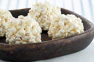 Mallow Popcorn Balls: Popcorn is coated with a gooey marshmallow mixture and formed into balls for yummy treats kids love to make & eat!