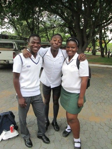 Kgaugelo Maluleka, Lebogang Mnisi and Jacominah Maboyane.  #Matric_2013  Our last days of High School.  #Hoerskool_Nylstroom