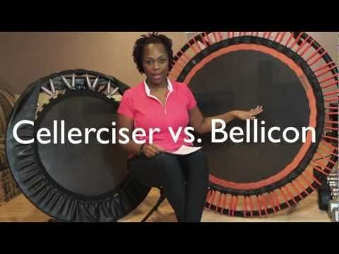 My Cellerciser vs. Bellicon with Insanity Review >  Published on Oct 23, 2012    My personal review on why I love rebounding on a Cellerciser & Bellicon, with a sample of doing Insanity from Beachbody. My first love is Hairstyling, My 2nd love is Fitness! I recently lost 75lbs and wanted to share one of many ways on how I lost it.