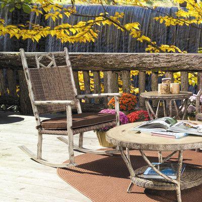 Woodard River Run Small Rocking Chair Fabric: Sunbrella Beachball Bluestone