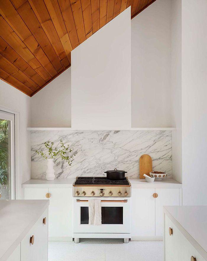 Spaces The New White Marble Kitchen White Ikea Kitchen Kitchen Cabinet Design