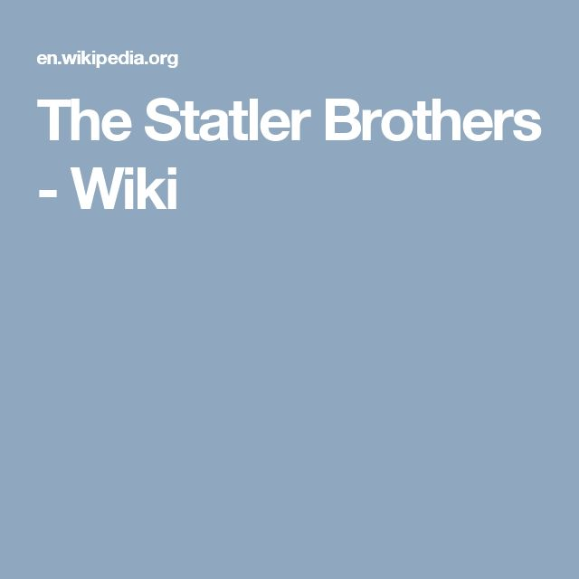 The Statler Brothers - Wiki