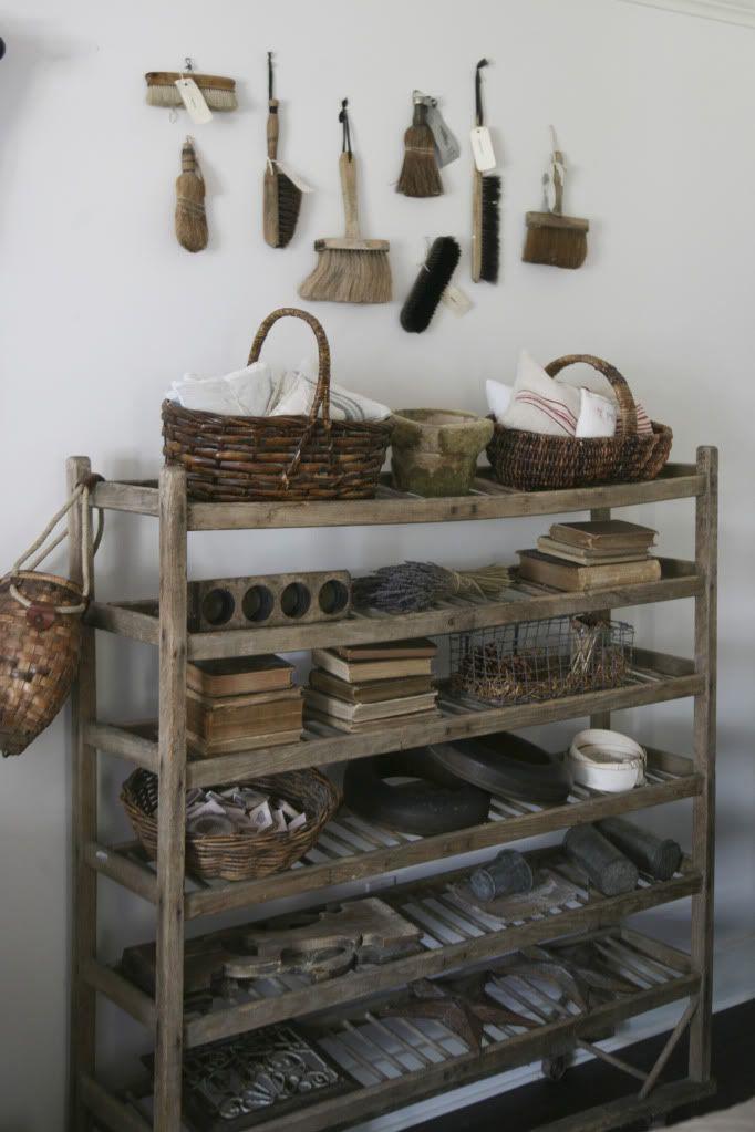 Vintage bakers rack for storage
