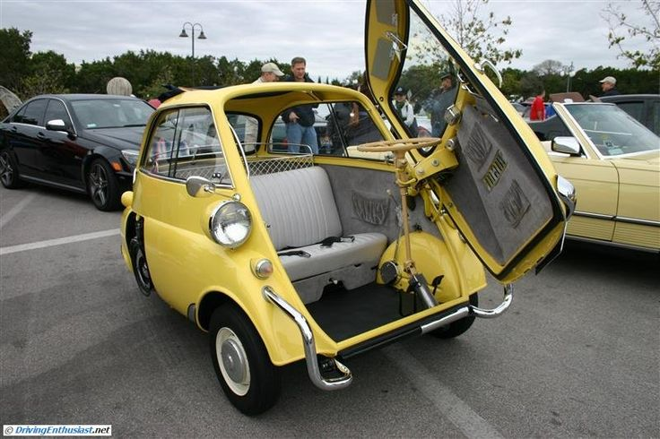1958 BMW Isetta 300. As seen at the February 2013 Cars and Coffee show in Austin TX USA.