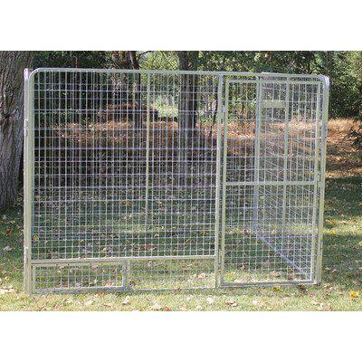 "Basic Galvanized Steel Dog Kennel Size: 72"" H x 72"" W x 96"" L - http://www.thepuppy.org/basic-galvanized-steel-dog-kennel-size-72-h-x-72-w-x-96-l/"