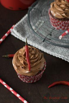 Cupcakes de chocolate picantes