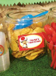 mario party ideas for chips including toads tostitos