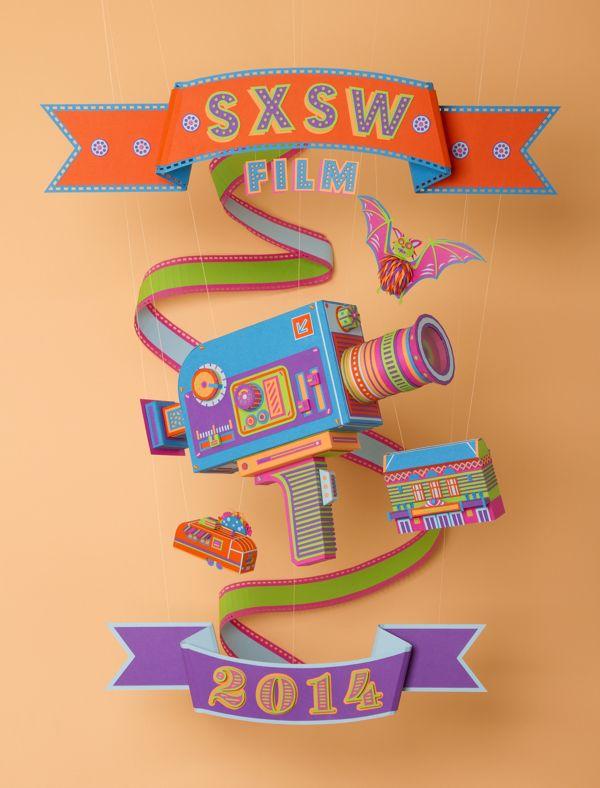 SXSW - Film Festival by Zim And Zou, via Behance