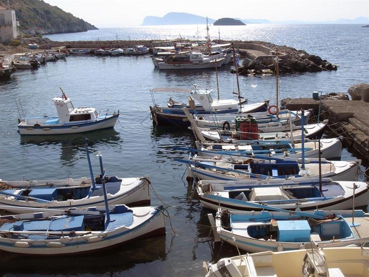 Fishing boats in Hydra