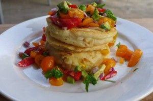 corn pancakes #vegan