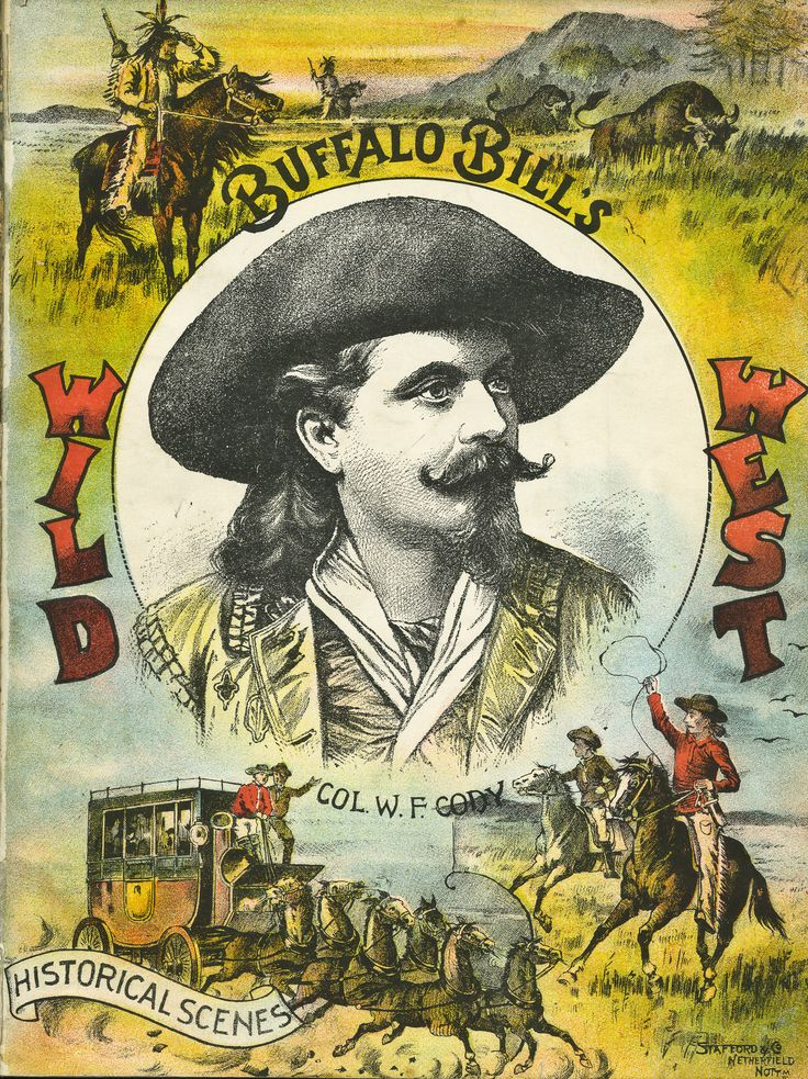 Buffalo Bill Cody Wild West Show poster.