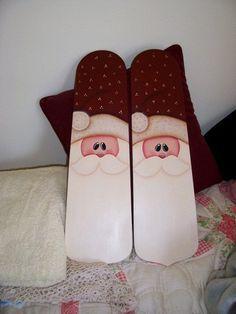 Santa Face Painted Fan Blades
