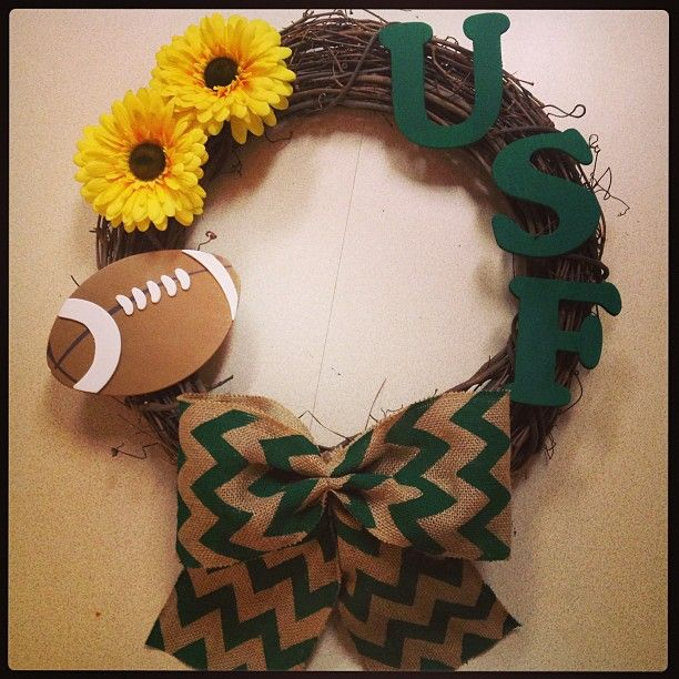 #USF football wreath.
