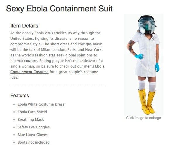 Un costume infirmière sexy spécial Ebola - http://www.2tout2rien.fr/un-costume-infirmiere-sexy-special-ebola/
