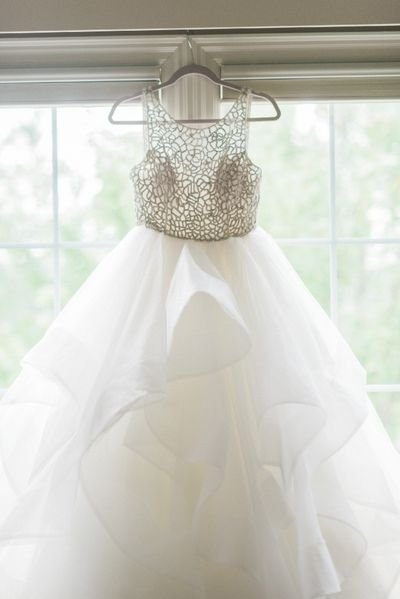 2017 White Long Wedding Dress, Scoop Beads Prom Dress
