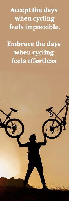 Omhels de dagen dat fietsen vanzelf gaat!