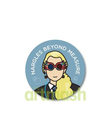 Luna Lovegood Button  Nargles Beyond Measure by theartmash on Etsy, $1.50