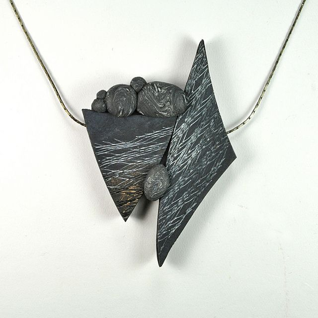 N12-12 Slate and Stone by JanGeisen, via Flickr | Art Jewelry