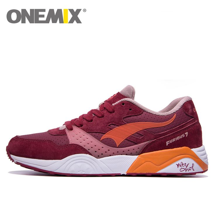 onemix Leather Running Shoes for Men Women 2016 Sneaker Breathable Lady  Trainers Walking Outdoor Sport Shoes