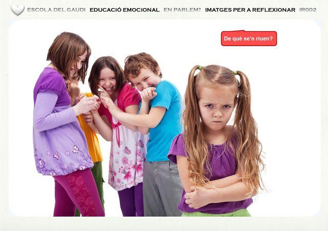 Educar las emociones y los sentimientos. Colección Imágenes para Reflexionar 2. Escuela de la Alegría   EDUCACIÓN EMOCIONAL   ¿Hablamos?    IMÁGENES PARA REFLEXIONAR   IR002  LA BURLA / EL BULLYING  ¿De qué se ríen?