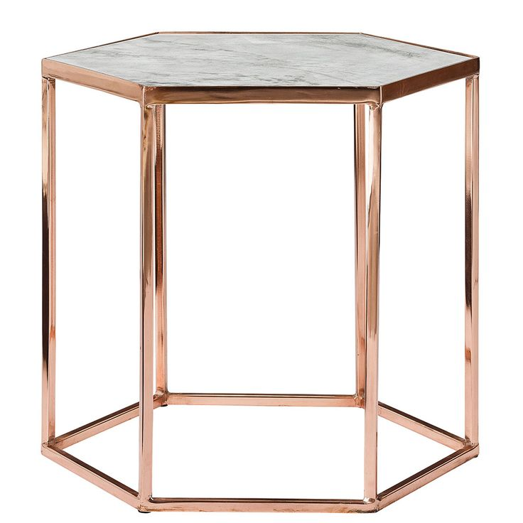 Bloomingville Table 45cm, Cuivre/Marbre, Bloomingville