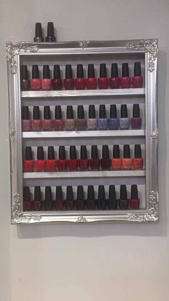 A personal favourite from my Etsy shop https://www.etsy.com/uk/listing/503022388/nail-polish-frames-18x22-inches
