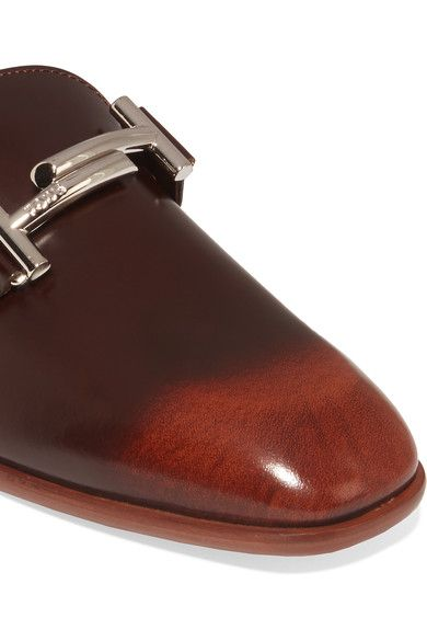 Tod's - Burnished Leather Loafers - Brown - IT35