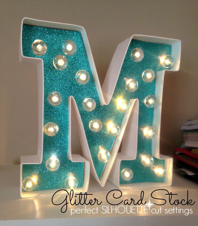Glitter Card Stock: Perfect Silhouette Cut Settings (Plus Burlap and Cork)
