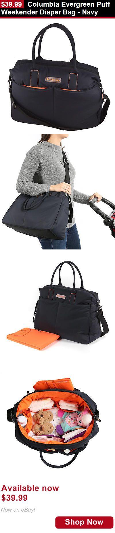 Baby Diaper Bags: Columbia Evergreen Puff Weekender Diaper Bag - Navy BUY IT NOW ONLY: $39.99
