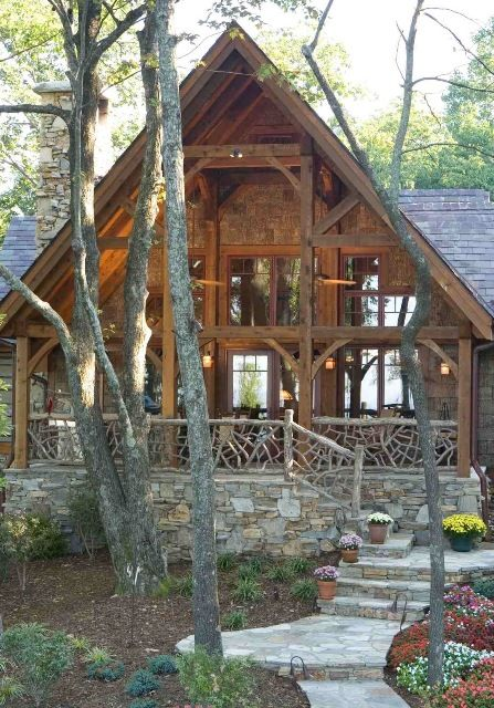 Mill creek timber frame homes about timber frame timber for Timber frame cottage