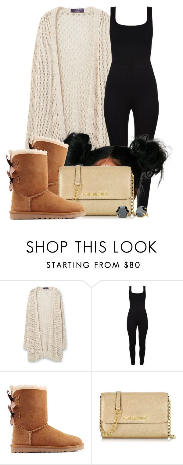 """""""Untitled #619"""" by b-elkstone ❤ liked on Polyvore featuring Violeta by Mango, UGG Australia, Michael Kors and Stella & Dot"""