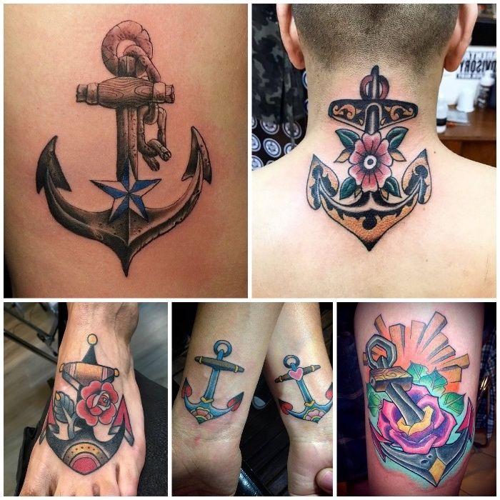 Mann unterarm anker tattoo Tattoo Oberarm