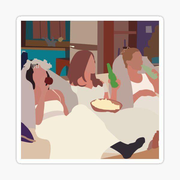 Pegatinas Friends Ilustración De Amigos Collage De Amigos Pegatinas