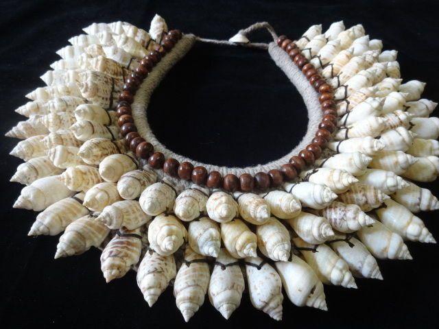 Sea Mermaid Brown Bead Shell Necklace Transformation Beautiful Women Fashion Art #SAVAGEHARVEST