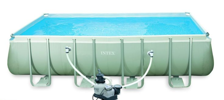 Piscina rectangular 17203lt 549x274x132cm Intex #piscinas #desmontables