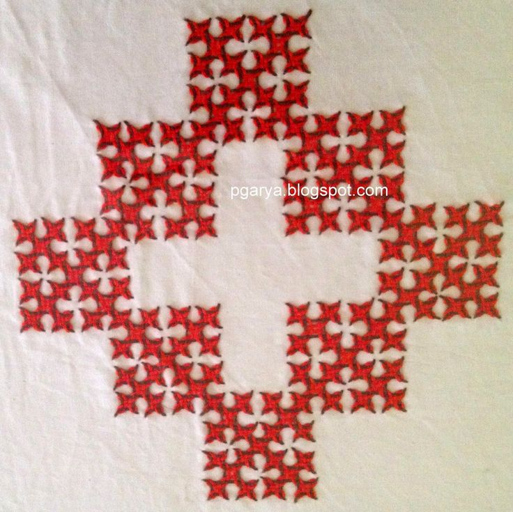 Art & Needlework: Kutch Work Pattern