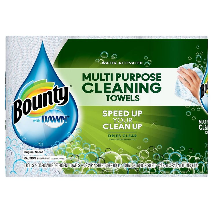 Bounty With Dawn Paper Towels - 3ct