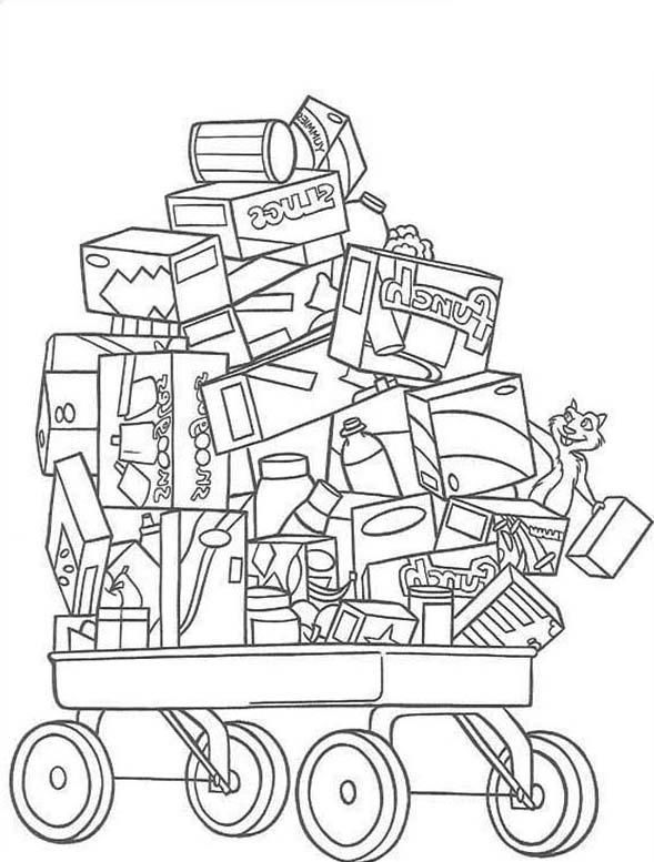 Read Morecart Full Of Toys In Over The Hedge Coloring Pages