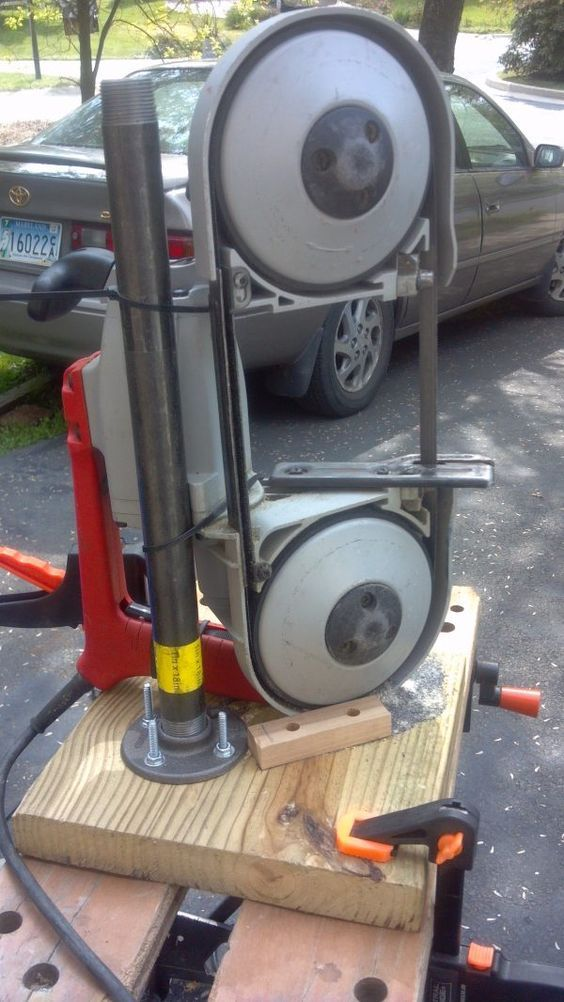 Dirt-cheap portaband (portable band saw) stand - Tools, general discussion - I Forge Iron: