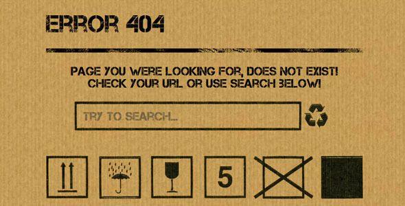 Boxxy 404 Page  #themeforest