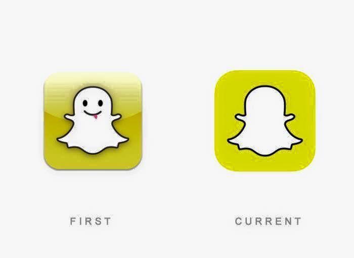 El primer y ultimo #logotipo de #Snapchat hasta la fecha.