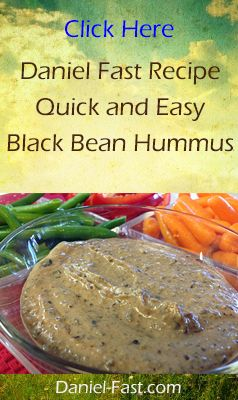 Black Bean Hummus is one of my favorite Daniel Fast recipes. Plus, it's easy to make and costs a fraction of what prepared hummus costs in the grocery store or deli....