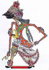 Wisnu the Preserver of the Universe and ancestor to the Pandawas, Wayang Kulit, Leather, Manyuran Central Java
