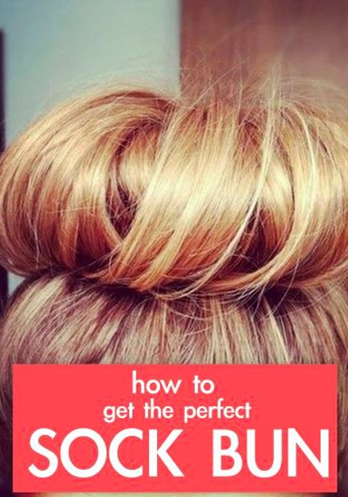 Find out how easy it is to get the perfect sock bun!