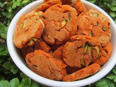 Zucchini Parmesan Dog Cookie Recipe (wheat and gluten-free)