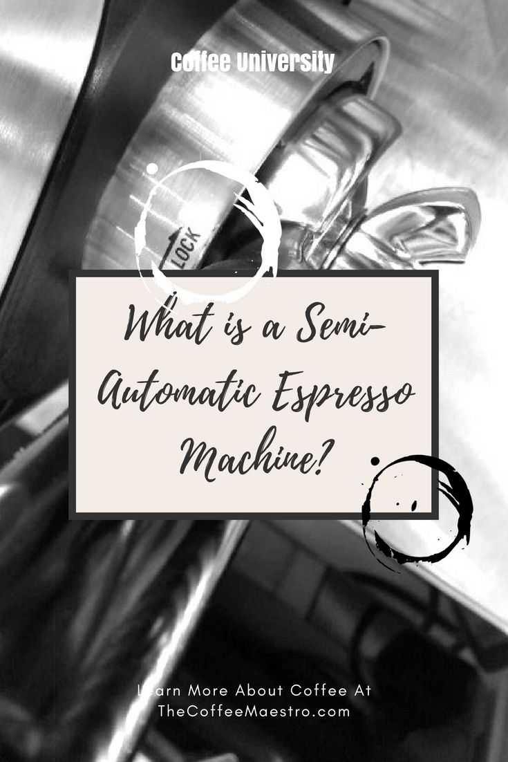 If you wonder what a semi-automatic espresso machine is read on to learn more and find out whether this type of coffee machine is right for you.