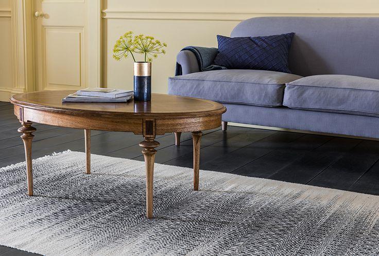 Peter 2-Seater Sofa with Margaret Coffee Table, Arthek Cushion & Lazuli Vase