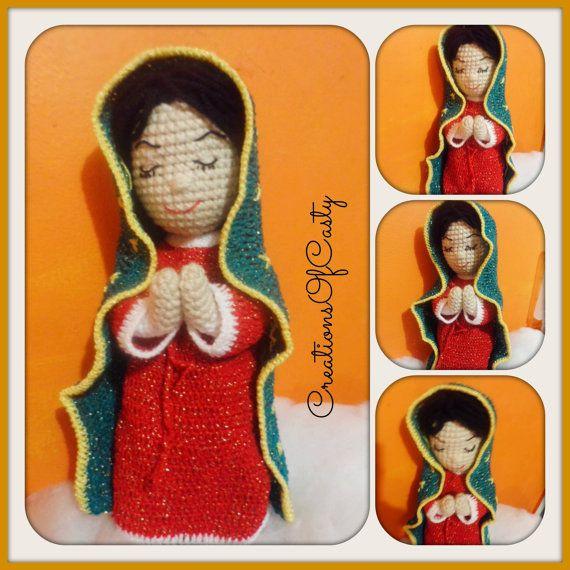 La virgencita de Guadalupe Doll Amigurumi PDF  by CREATIONSOFCASTY, $6.50