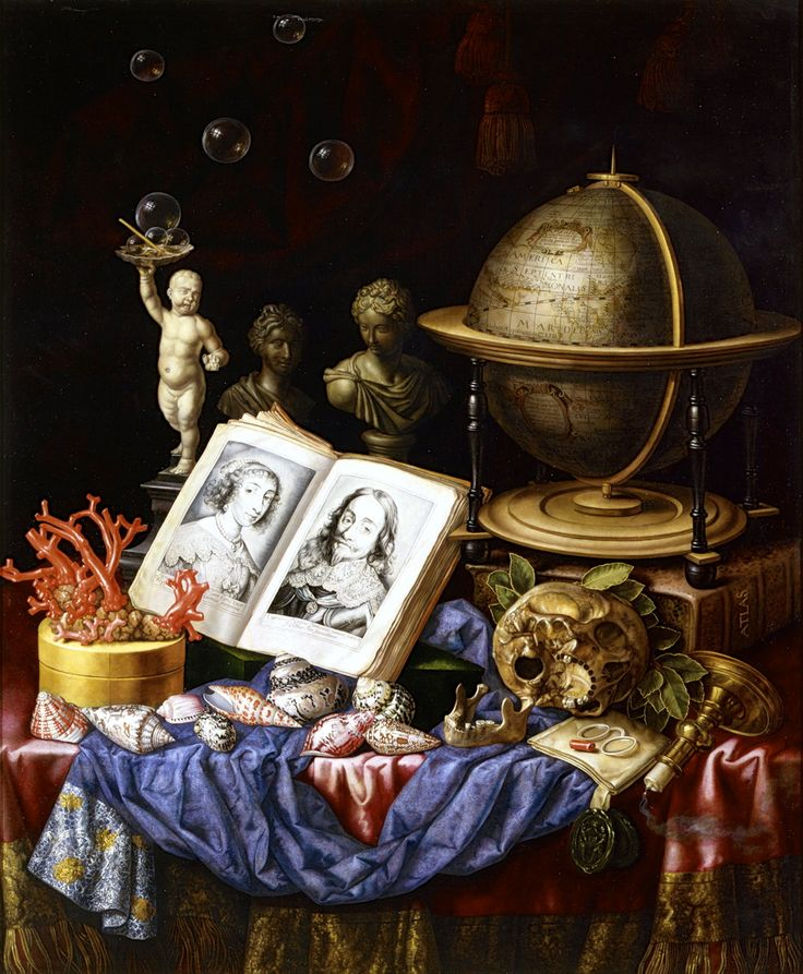 Carstian Luyckx, Allegory of Charles I of England and Henrietta of France in a Vanitas Still Life, 17th century